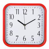 Reloj de pared aislado en blanco. 10:10. — Foto de Stock
