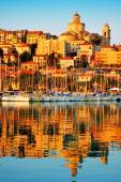 City of Imperia, Liguria, Italy during sunrise — Stock Photo
