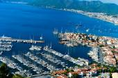 View of Marmaris harbor on Turkish Riviera. — Zdjęcie stockowe