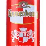 Постер, плакат: Can of Kronenbourg beer isolated on white