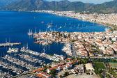 View of Marmaris harbor on Turkish Riviera. — Stock Photo