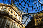 Galleria Vittorio Emanuele II in central of Milan, Italy — Stock Photo
