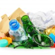 Recyclable garbage consisting of glass plastic metal and paper — Stok fotoğraf #55322171