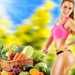 Dieting. Balanced diet based on raw organic vegetables — Stock Photo #55728725