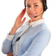 Call center operator. Customer support. Help desk. — Stock Photo #56628531