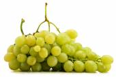 Bunch of fresh white grapes isolated on white — Stock Photo