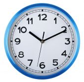 Wall clock isolated on white. Ten past ten. — Stock Photo