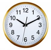 Wall clock isolated on white. Ten past ten. — Stock Photo