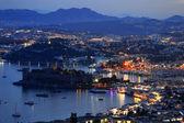 View of Bodrum harbor by night. Turkish Riviera — Stock Photo