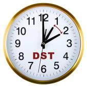 Wall clock isolated on white. Daylight saving time — 图库照片