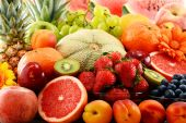 Composition with assorted fruits — Stock Photo