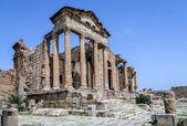 Ruinas romanas de sufetula cerca de sbeitla — Foto de Stock