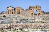 Romerska ruinerna av sufetula nära sbeitla — Stockfoto