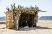 Typisch gebouw in tunesië voor bescherming in de woestijn van matmata — Stockfoto