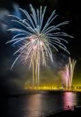 Fireworks to celebrate the Day of Mercy 2014 in Barcelona — Stockfoto