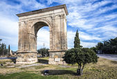 Triumphal arch of Bara in Tarragona, Spain. — Stock Photo
