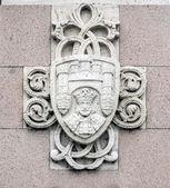 Armoiries statue du Cid à Burgos, Espagne — Photo