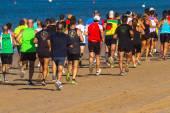 XXV Athletic traverse Rota's beaches — Zdjęcie stockowe