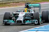Team Merceces F1, Lewis Hamilton — Stock Photo