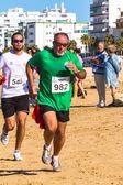 XXV Athletic traverse Rota's beaches — ストック写真