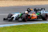 Team Force India F1, Daniel Juncadella, 2014 — Stock Photo