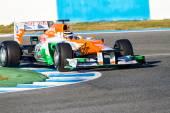 Nico Halkenberg of Force India F1 races — Stock Photo
