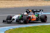 Team Force India F1, Daniel Juncadella, 2014 — Stockfoto