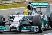 Team Merceces F1,  Lewis Hamilton, 2014 — Stock Photo
