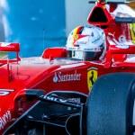Постер, плакат: Scuderia Ferrari F1 Sebastian Vettel