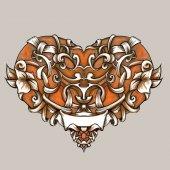 Hearts, illustrations, vector, pattern, — Stock Vector