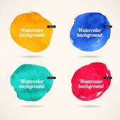 Watercolor circles backgrounds — Stock Vector