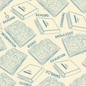 Mono Azul libros — Vector de stock