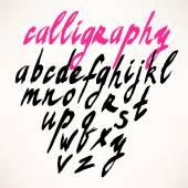 Alfabeto. lettere disegnate a mano — Vettoriale Stock