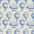 Seamless background with balloons and airships — Stock Vector #64603423