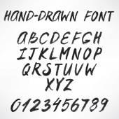 Gray hand-drawn font — Stock Vector