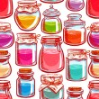 Seamless colorful mason jars — Stock Vector #67921473
