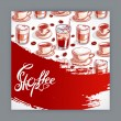 Cute card with cups of coffee — Vettoriale Stock  #68166389