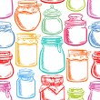 Seamless colorful mason jars - 2 — Stock Vector #68263763