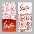 Two cards with cups of coffee — Stockvector  #68263793