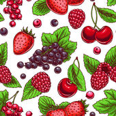 Background with ripe berries — Stock Vector