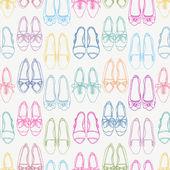 Sfondo senza soluzione di continuità con scarpe colorate — Vettoriale Stock