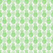 Seamless green pineapple — Wektor stockowy
