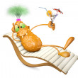 Monster on a chaise lounge — Stock Photo #64116675