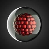 A micro cell scientific illustration — Foto Stock
