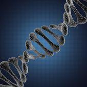 A single DNA scientific illustration — Stock Photo