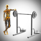 Human radiography in gym room — Stock Photo