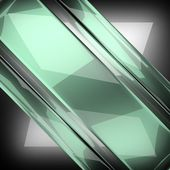 Polished metal background with glass — Stock Photo