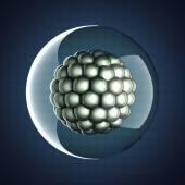 A micro cell scientific illustration — Stockfoto