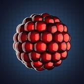 A single atom scientific illustration — Stok fotoğraf