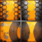 Vector metal background set — Stock Vector